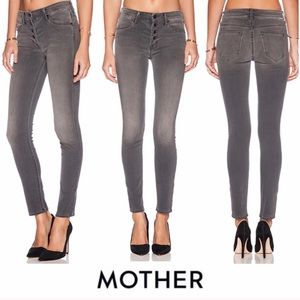 Mother Gray Denim Pixie Butter Fly skinny size 24